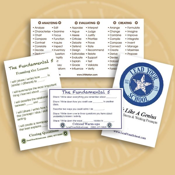 Fundamental 5 Support Cards** - Lead Your School